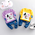 2017 spring autumn baby suit boys girls 100% cotton clothing cartoon T-shirt + pants 2pcs sets children's clothes sets
