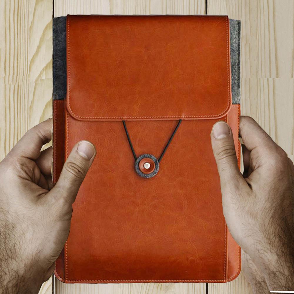 11 6 13 3 15 4 15 6 Inch Genuine Leather Vintage Envelope Laptop Sleeve Case