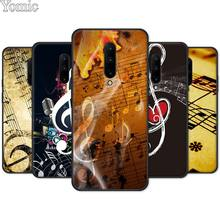 Silicone TPU Case for Oneplus 7 7 Pro 6 6T 5T Black Soft Case for Oneplus 7 7Pro Phone Cover Shell musical note