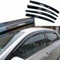 4 pcs Janelas de Ventilação Viseiras Chuva Guarda Sol Escudo Escuro Defletores Para Toyota Corolla 2011