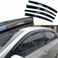 4pcs Windows Vent Visors Rain Guard Dark Sun Shield Deflectors For Toyota Corolla 2011
