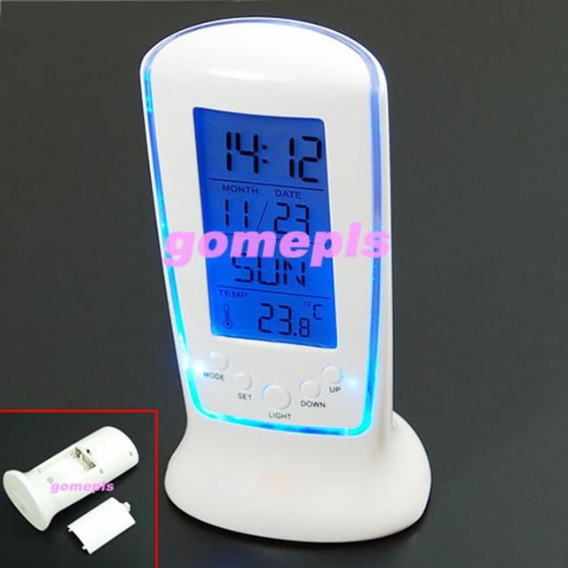 Digital LCD Alarm clock calendar thermometer Backlight