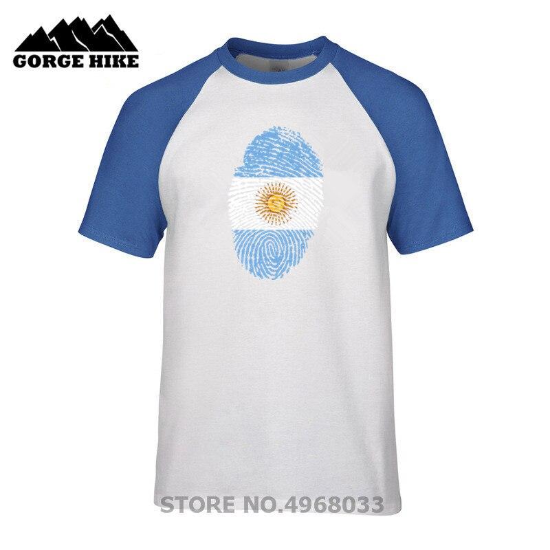 Country series product Men summer Hot Sale T-shirt Argentina Flag Fingerprint 3D Print Guys O-Neck T shirt Teenage Cheap Tshirt