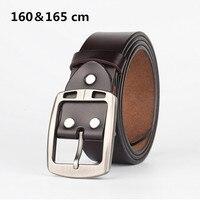 موضة 160 و 165 سنتيمتر الرجال حزام جلد طبيعي حزام الكلاسيكية دبوس مشبك تصميم أحزمة للرجال ceinture أوم لوكس انطلاقها ty