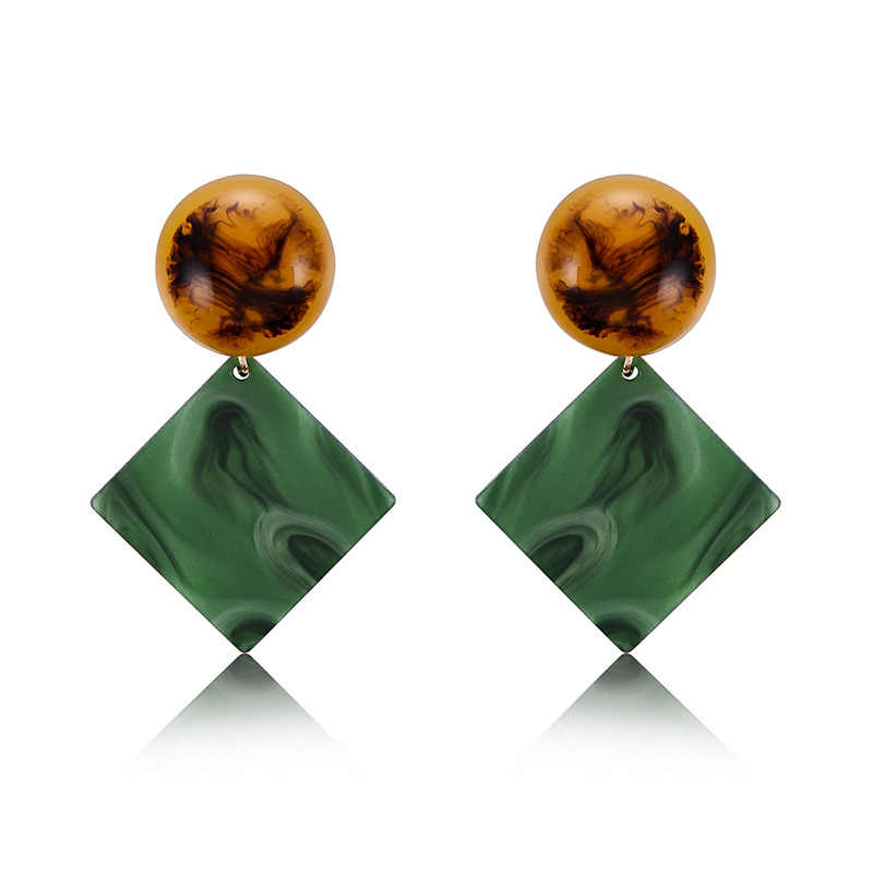 Minimalist Square Tortoiseshell Earrings 3 Color Acrylic Earring For Women Girls Pending Jewelry Brincos Femme art deco