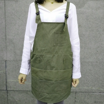 Artist Apron Multi-Pocket Slim Fit Style Apron Adjustable Neck Strap And Waist Ties Suitable For Artist Painting