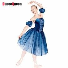 2017 New Ballet Dress For Children/Adult Professional Ballet Tutu Girls/Lady Performance Dance Costumes Blue Ballet Skirt DQ9008