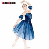 2018 New Ballet Dress For Children/Adult Professional Ballet Tutu Girls/Lady Performance Dance Costumes Blue Ballet Skirt DQ9008