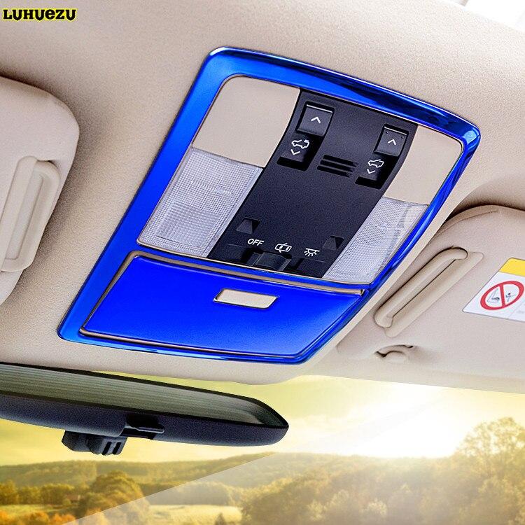 Luhuezu Stainless Steel Interior Reading Light Decoration Cover For Toyota Land Cruiser Prado FJ 150 2010 2017 Accessories