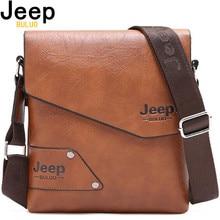 Man Leather Bag Jeep Brand Shoulder Crossbody Bags For Men Cow Split Leather Male iPad Business Messenger Briefcase Travel Bag