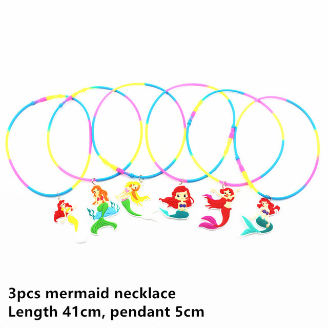 3pcs M nacklace Mermaid party plates 5c64f5cb3123b