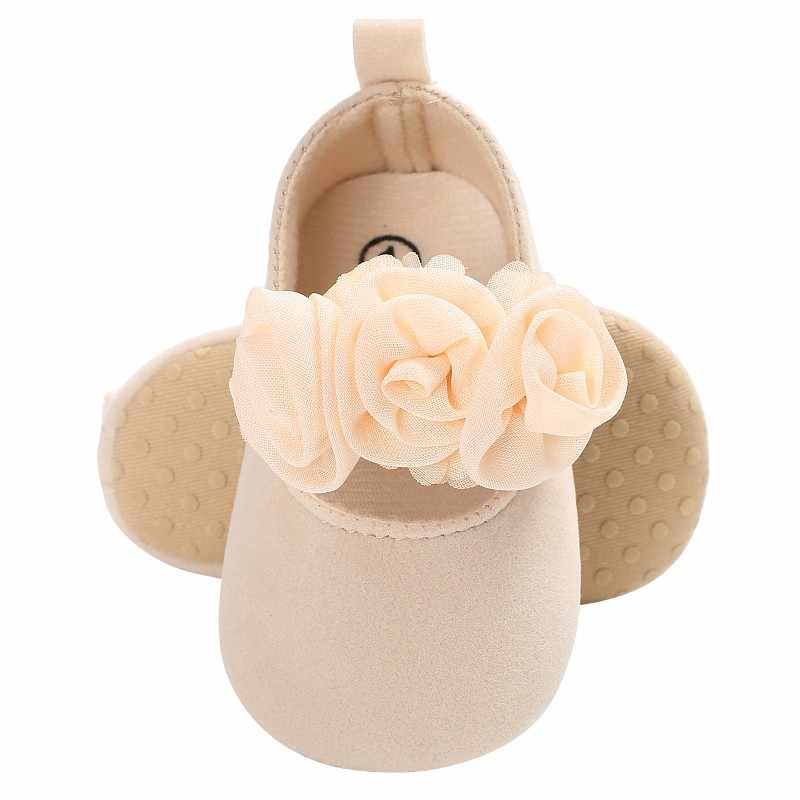 324d283f5fa ... Baby Girls Shoes First Walker Infant Newborn Soft Sweet Mary Jane Baby  Shoes Kids Wedding Party ...