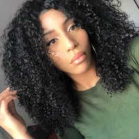 AliBlissWig 360 Lace Frontal Wigs Kinky Straight Natural Color Brazilian Remy Hair 100 Human Hair Free