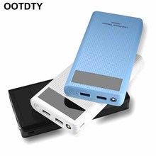Type C Dual USB QC3.0 7x 18650 Battery DIY Power Bank Box Charger For Cell Phone mbr cell power neck