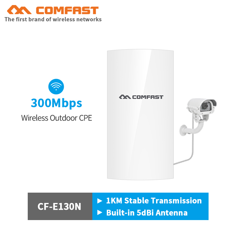 COMFAST 300Mbps Outdoor CPE Bridge Point To Point 1km Stable Trsnsmission Rate AP Wifi Repeater Antenna Nanostation For Elevator
