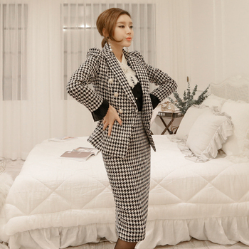 Womens Casual Skirt Suit