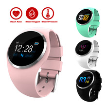 Q1 Couple Smartwatch Waterproof Sport Bracelet Blood Pressure Lady Fitness Tracker Calories Monitor Remote Camera Color Screen