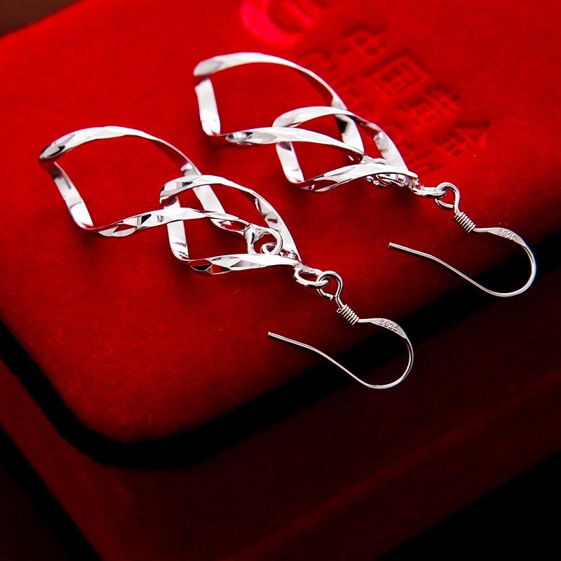925 ստերլինգ արծաթե կաթիլ ականջողներ - Նուրբ զարդեր - Լուսանկար 4