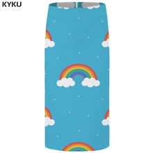 KYKU Brand Rainbow Skirts Women Galaxy Sexy Cloud Plus Size Colorful Casual Floral 3d Print Ladies Womens Vintage