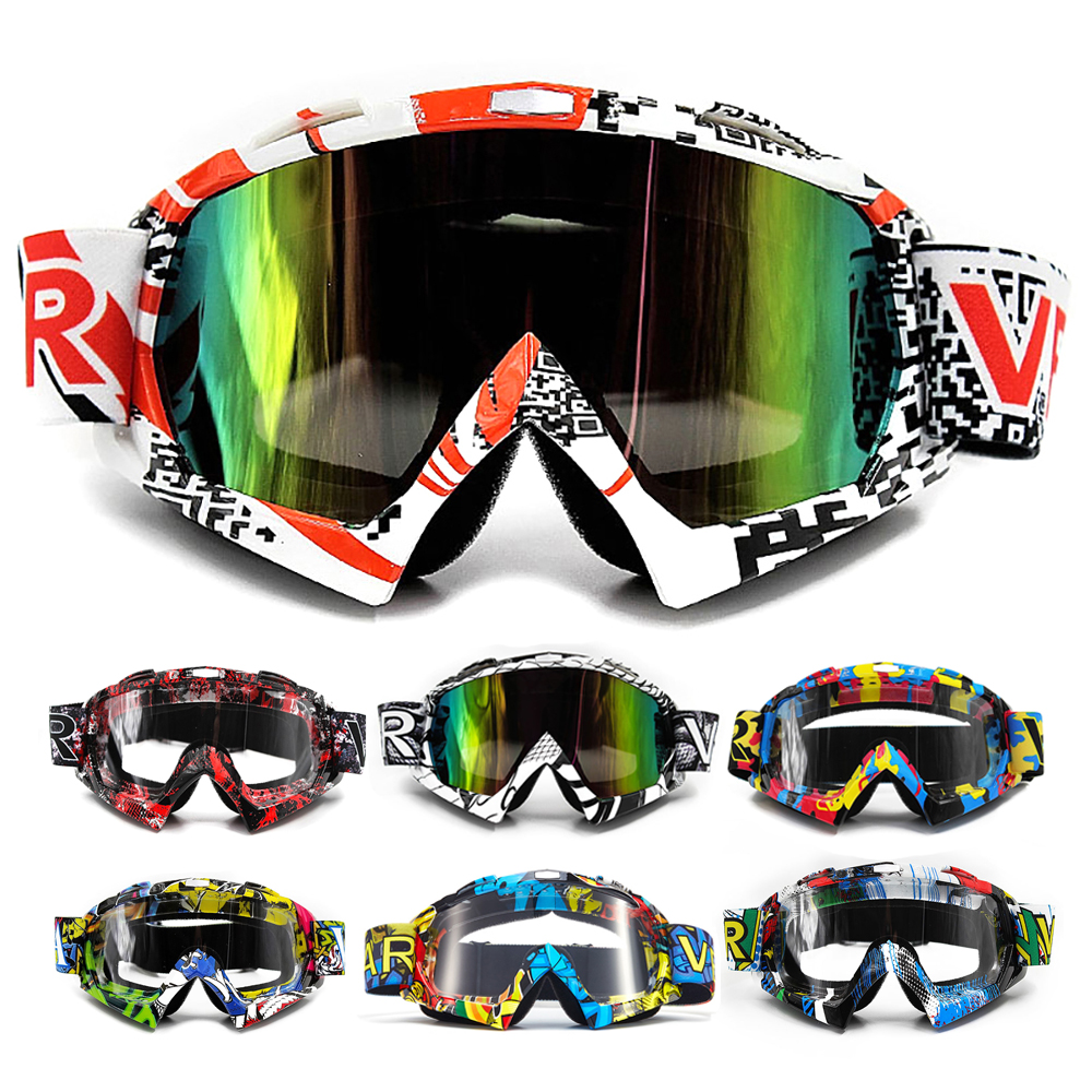 2019 VEMAR Motorcycle Goggles Ski Glasses Motocross Goggles Racing Eyewear Snowboard Glasses Colorful Lens Glasses Single Lens(China)