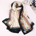 Women Scarf 100% Pure Silk Scarf Luxury Brand Scarf Horse/Floral/Skull Printed Scarf Echarpes Foulards Femme Ladies Scarves Silk