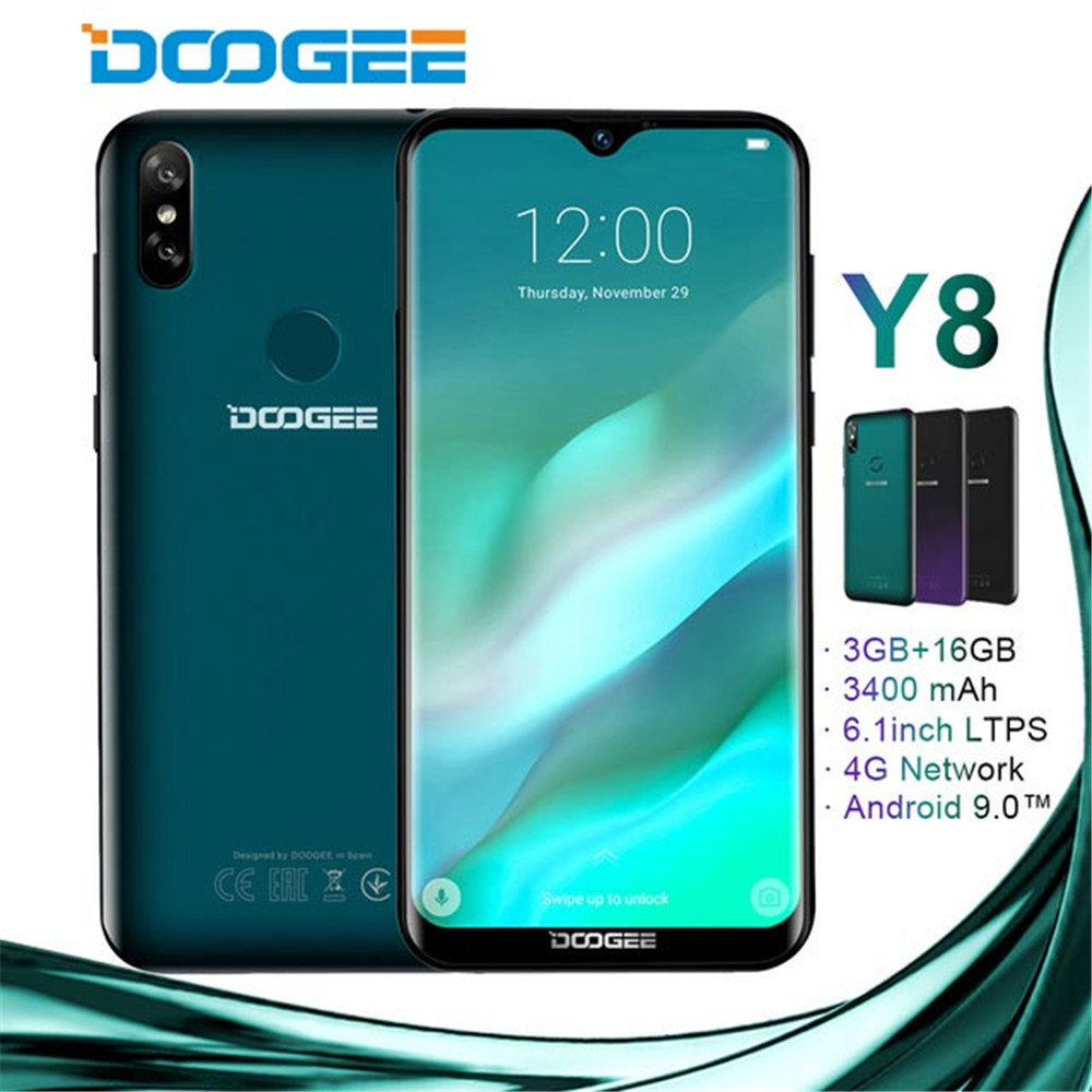 US $78 99 21% OFF|DOOGEE Y8 android 9 0 Smartphone 6 1