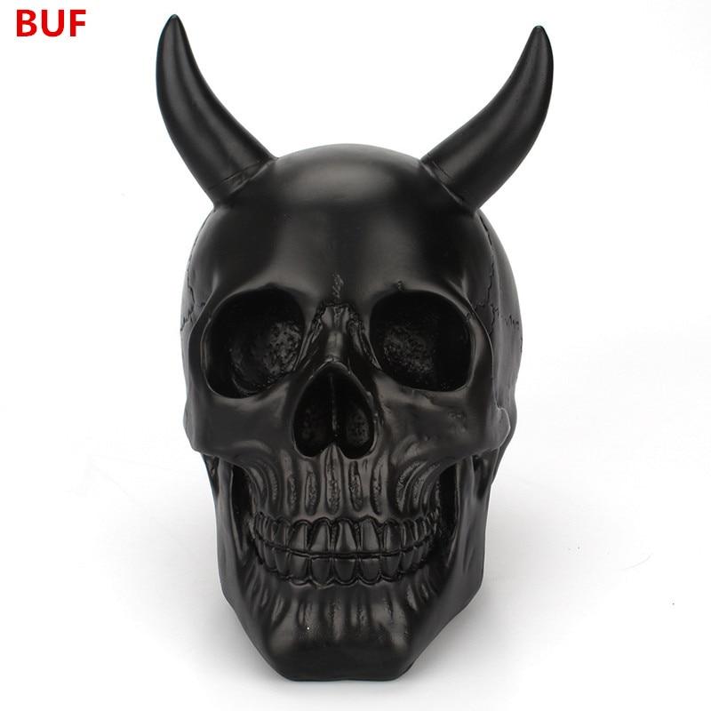 Halloween Decoratie Bestellen.Goede Kopen Hars Ambachtelijke Zwarte Schedel Creatieve