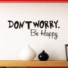 DCTOP DON'T WORRY BE HAPPY Wall Sticker Quote Art Funny Cheerful Decal Decorative Vinyl Stickers Home Decor