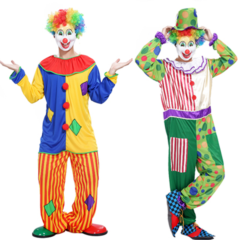 new promotional Halloween costume adult clown costume magic show clothing masquerade costumes Clown series