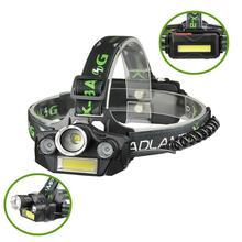 5 Modes 4 LED COB Rechargeable Headlight For Outdoor Camping Brightness Headlamp