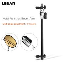 Réflecteur Bras Flash monture de support Support Tête Pivotante avec Flèche Télescopique Bras pour Speedlite Mini Flash Stroboscopique