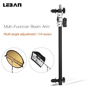 Image 1 - Reflector Arm Flash Light Support Holder Bracket Swivel Head  with Telescopic Boom Arm for Speedlite Mini Flash Strobe