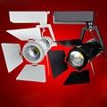 10 pçs/lote COB Faixa de Luz 15 W 20 W pista Levou luz pista rail spot COB luz 110 V 220 V holofotes lâmpada de Parede para roupas