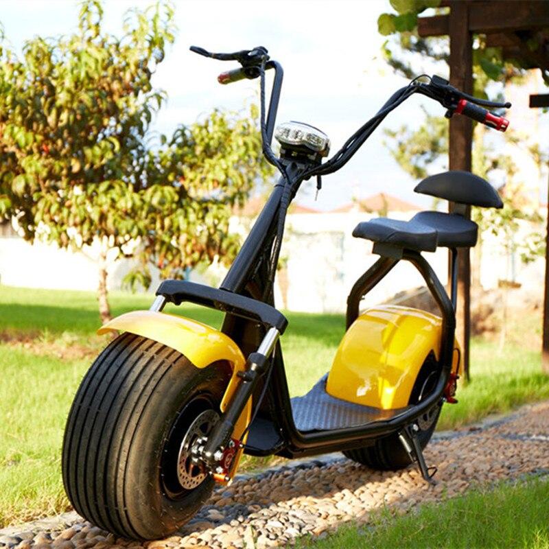 Nouvelle vente chaude 18*9.5 pneu ville-coco scooter électrique 1000 W citycoco scooter 2 grandes roues ville scooter, taxe gratuite - 5