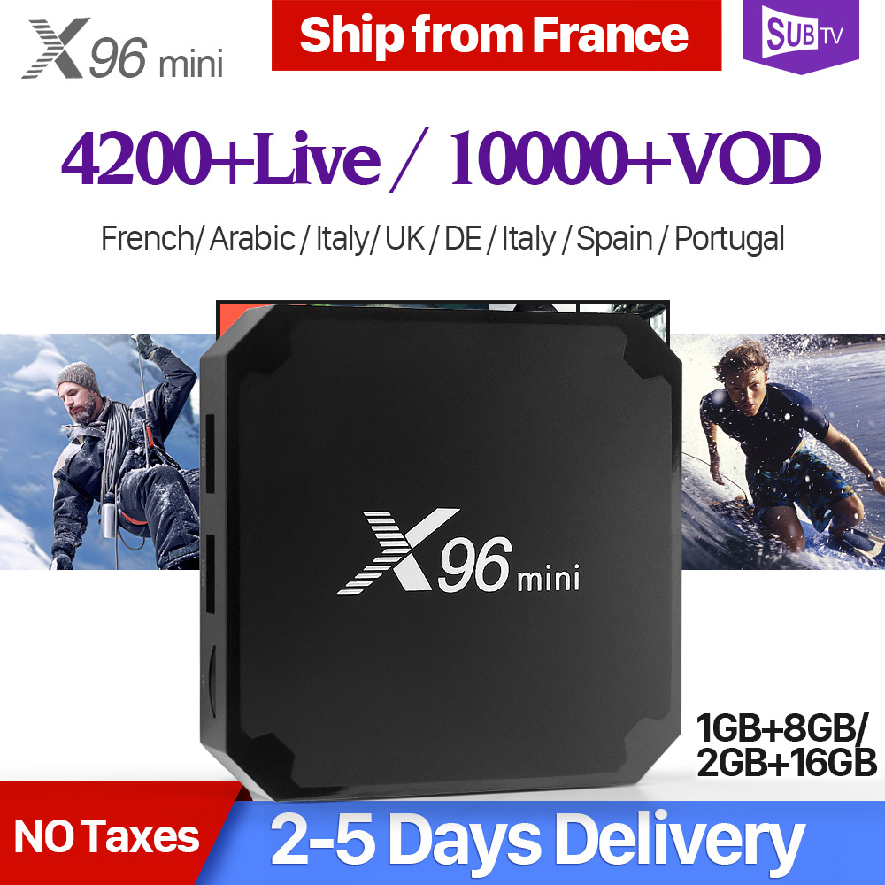 X96mini SUBTV IPTV Box français arabe IPTV abonnement X96 mini Android 7.1 TV Box IPTV France Portugal italie espagne UK IP TV