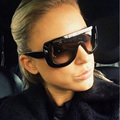 New 2016 Oversized Sunglasses Rivet ADELE CL Brand Designer Celebrity Kim Kardashian Women Sexy Sun Glasses Flat Top Lady Female