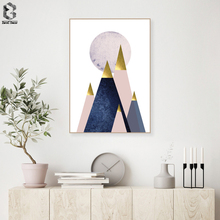 Modern Canvas Art Poster Print Geometric Painting Nordic Style Abstract Landscape Wall Picture for Living Room Home Decor