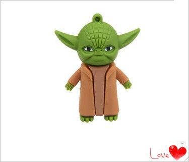 Usb Stick star war Yoda warrior modelUSB Flash 2.0 Memory Drive Stick Pen/Thumb/Car 4GB 8GB 16GB 32GB 64GB USB Flash Drive S8