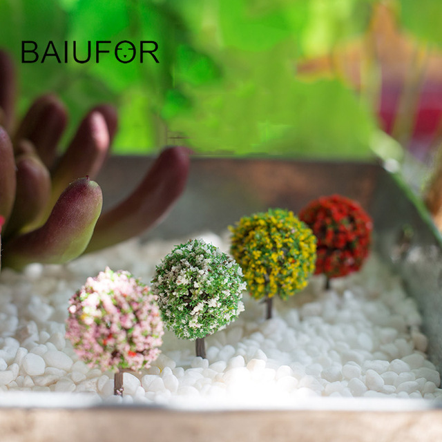 5 Pcs Lot Cute Samll Tree Fairy Garden Miniatures Mini Garden Diy