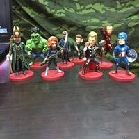 8 9CM Avengers Infinity War Hulk/Iron Man/Spiderman/Thanos/Vision/ Captain America/Ant Man/Thor/Loki PVC Action Figure Set Toys