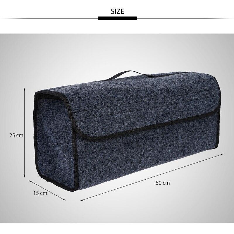 Portátil plegable multipropósito coche fieltro de tela plegable caja de almacenamiento organizador caso Auto Interior orden contenedor de caja de bolsas