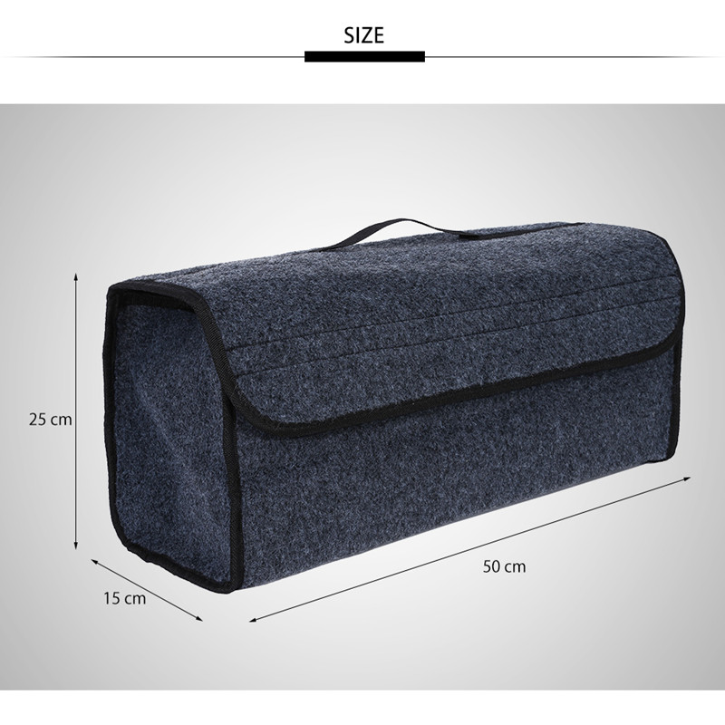 Portable Foldable Multipurpose Car Felt Cloth Folding Storage Box Organizer Case Auto Interior Tidying Container Bags Box