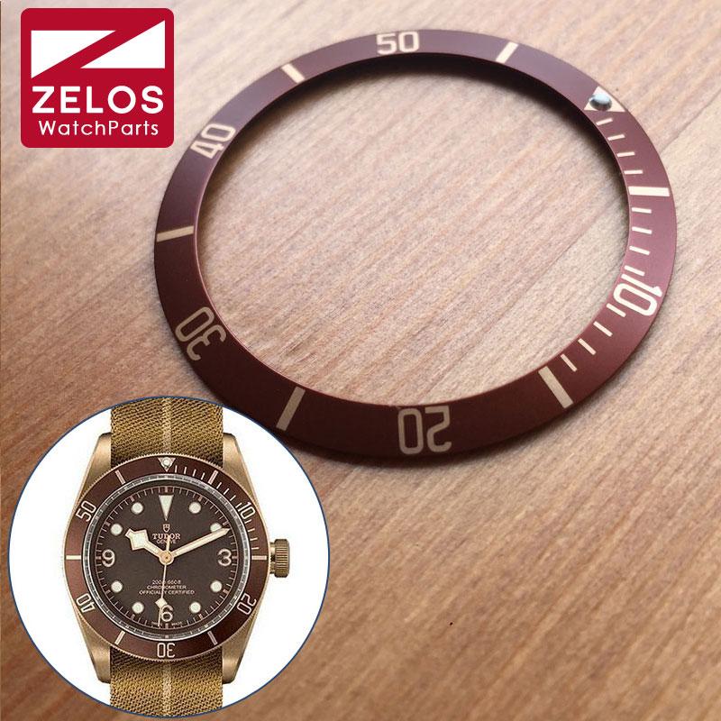 Luminous Aluminum watch bezel insert loop for Tudor Heritage Black Bay Bronze automatic watch parts luxury aluminum watch