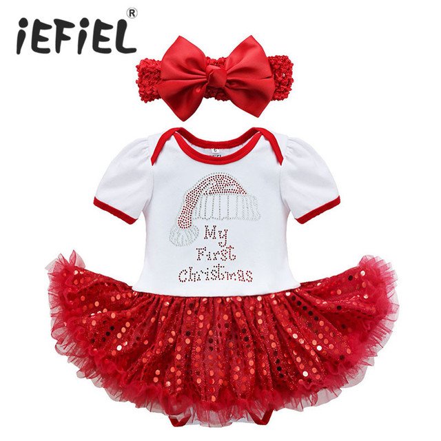 2017 New Christmas Baby Costumes Cloth Infant Toddler Baby Girls First  Christmas Outfits Newborn Christmas Romper - 2017 New Christmas Baby Costumes Cloth Infant Toddler Baby Girls