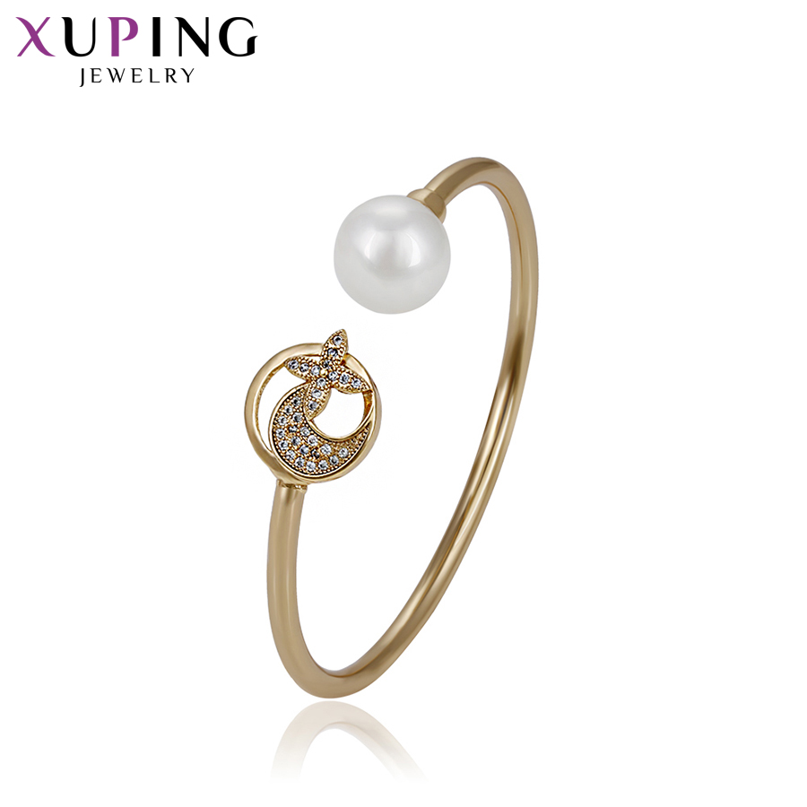 Responsible Xuping Fashion Gold Color Plated Temperament Bangle New Arrival High Quality Jewelry For Women Girls Party Gift S72,5-51750 Bracelets & Bangles