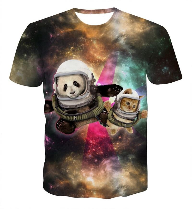 Buy harajuku space cat panda t shirt for T shirt distributor manufacturers