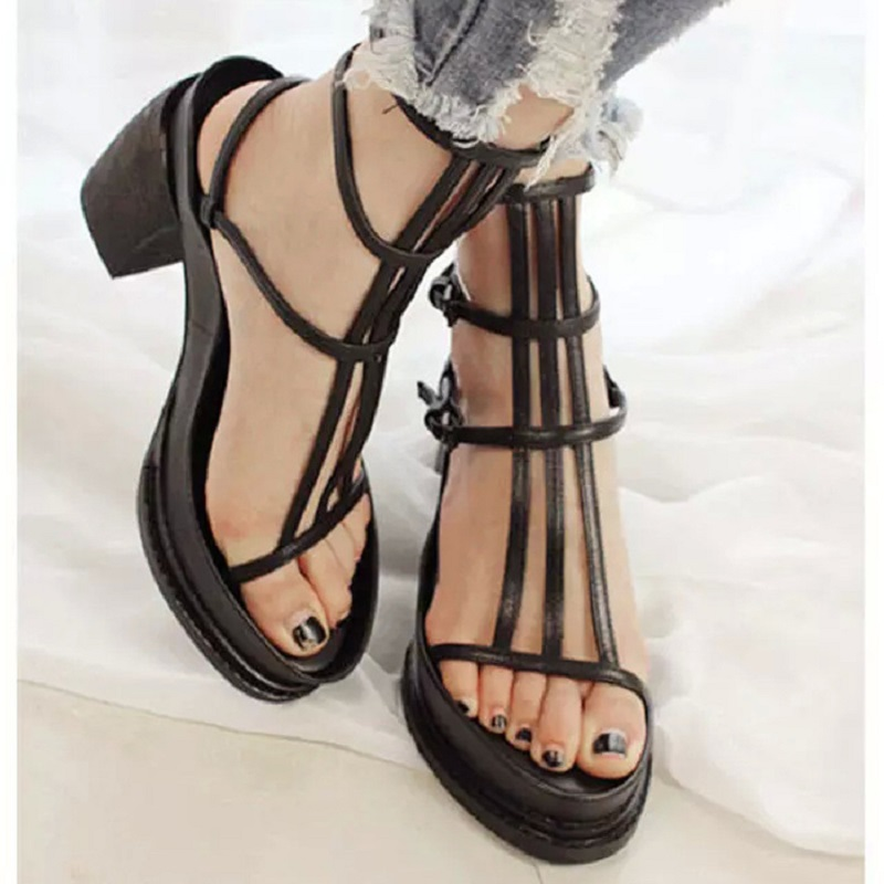 Gladiator Sandals Shoes Women Wedges High Heel Platform Sandals Roma Style Sexy Lady Cross-tied Women Casual Shoes H151 35 phyanic 2017 gladiator sandals gold silver shoes woman summer platform wedges glitters creepers casual women shoes phy3323