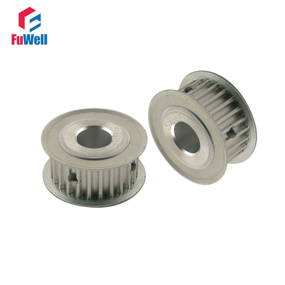 2pcs 5M 25T Timing Pulley Inner Bore 5/6/6.35/8/10/12/12.7/14/15/16/17/20mm 5mm Pitch 21mm Belt Width Timing Synchronous Pulley 2pcs htd5m 12t timing pulley 5 6 6 35 8 10mm inner bore 5mm pitch 21mm belt width 12teeth timing belt synchros pulleys