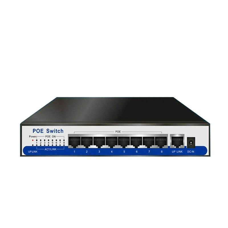 9 ports commutateur de poe de gigabit 100/1000 Mbps IEEE802.3af/actives POE 8 ports 50v2. 3a pour 8 pièces 1080 P 2MP 3MP 4MP 5MP 6MP caméra