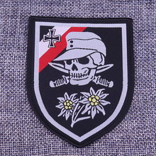 Germany flag cross edelweiss patch skull and knife soldiers shield embroidered badge Deutsche wehrmacht jewelry men gift